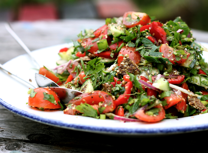 FATTOUSH SALAD WITH ZAATAR