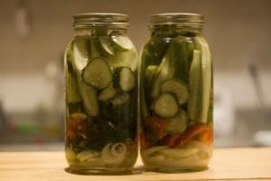 pickles in jar