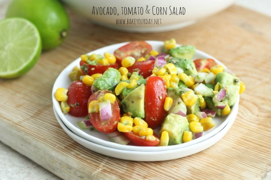 Avocado, Tomato & Corn Salad