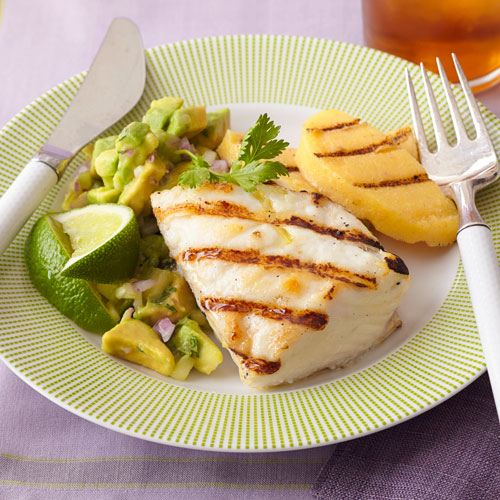 Grilled Halibut with Avocado Salsa img