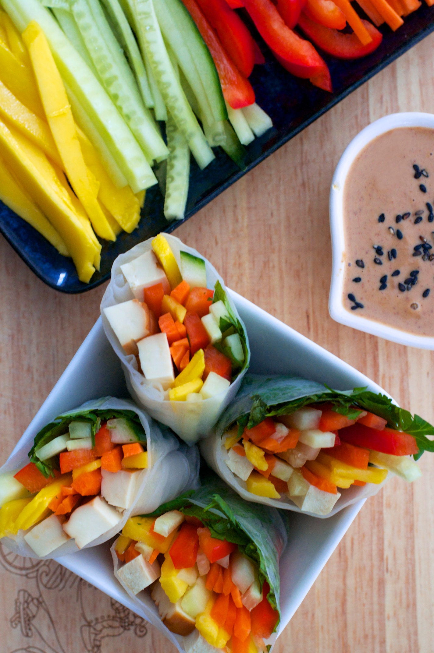 Simple Salad Rolls And Rice Paper Samosas