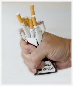 stop smoking pack of cigarettes