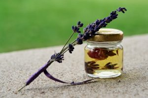 lavender oil in jar